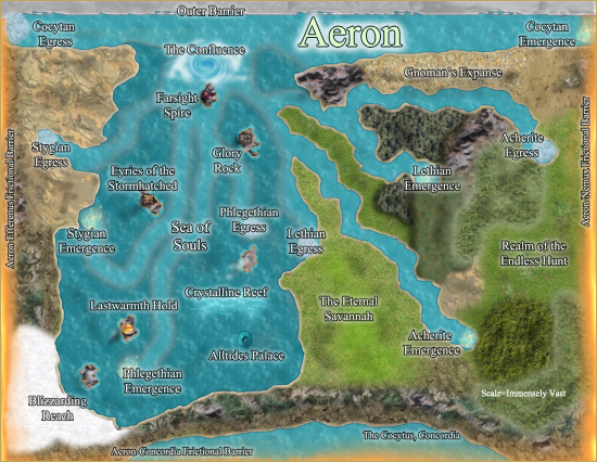 Map of Aeron. All rights reserved.