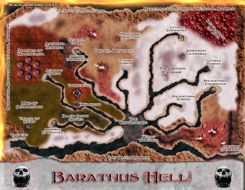 Map of Barathus. All rights reserved.