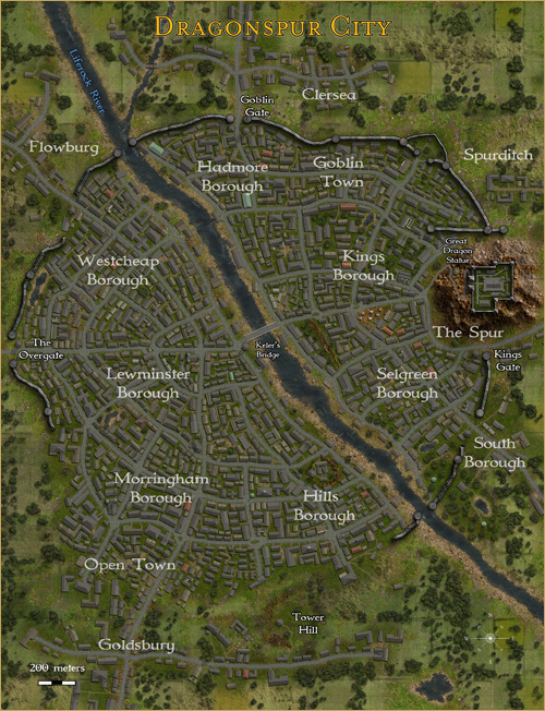 Dragonspur City-- Click for larger map
