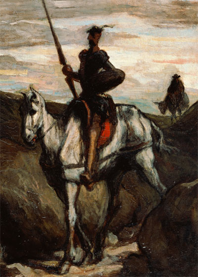 Don Quixote in the Mountains by Honore Daumier